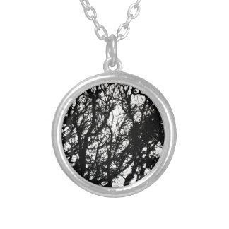 Black Stone Rustic Rigid Tough Wall Art Fashion Na Silver Plated Necklace