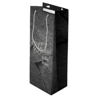 black stone slate wine gift bag