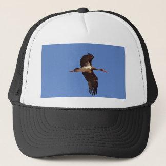 Black stork (Ciconia nigra) in flight Trucker Hat