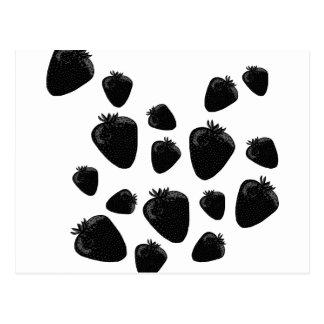 Black strawberries postcard