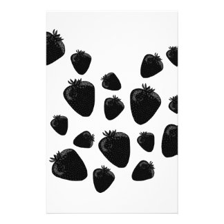 Black strawberries stationery