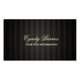 Black Stripe Business Card