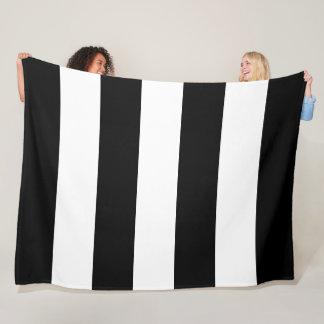 Black Stripe Fleece Blanket