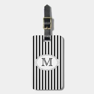 Black Stripe Luggage Tag Template