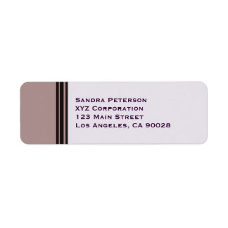 black stripe on purple business return address label
