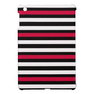 Black Stripe Red White Case For The iPad Mini