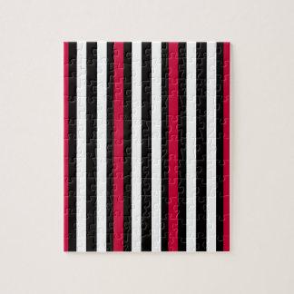 Black Stripe Red White Jigsaw Puzzle