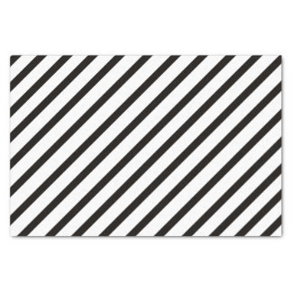 Black Stripe Tissue Paper