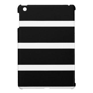 Black Stripe With White iPad Mini Case