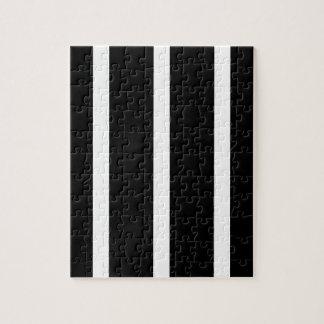 Black Stripe With White Jigsaw Puzzle