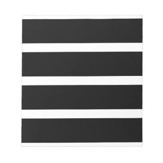 Black Stripe With White Notepad