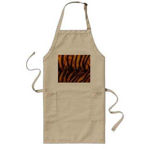 Black Striped Tiger fur or Skin Texture Template Aprons