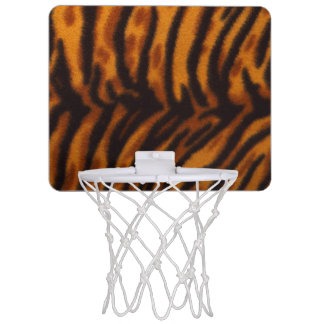 Black Striped Tiger fur or Skin Texture Template Mini Basketball Hoop