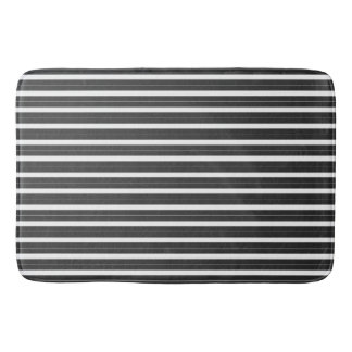 Black Stripes Bath Mats