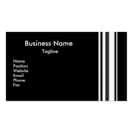 Black Stripes Business Card