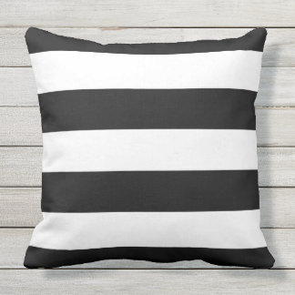 Black Stripes Cushion