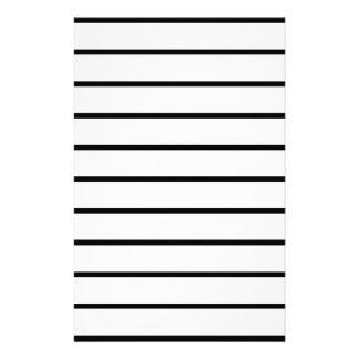 Black Stripes ON White Stationery