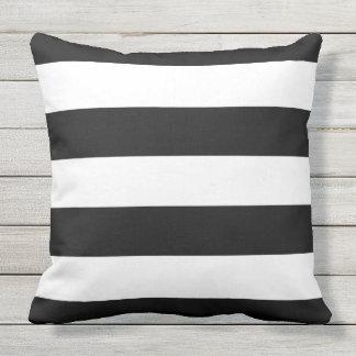 Black Stripes Outdoor Cushion