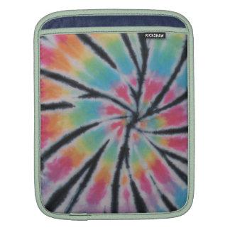 Black Stripes Tie Dye Swirl Rickshaw iPad Sleeve