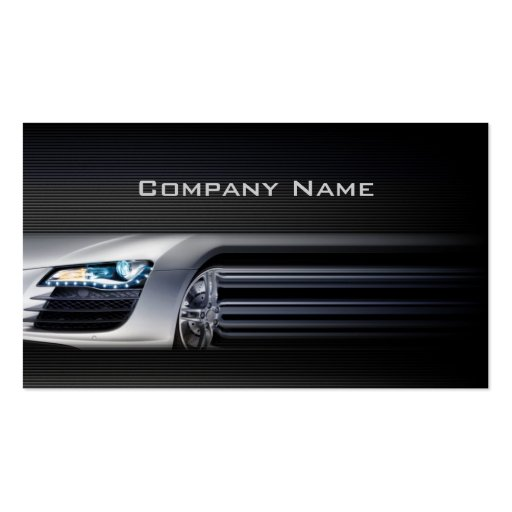 Black Stylish Automotive Business Card