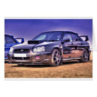 Black Subaru Impreza WRX STi Greeting Card