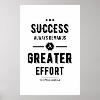 Black Success always Demands A Greater Effort Poster