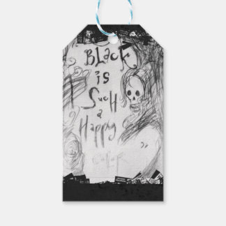 black such a happy color gift tags
