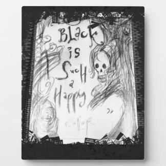 black such a happy color plaque