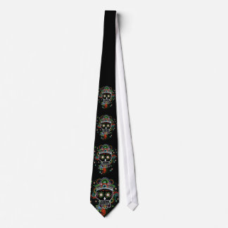 Black sugar mexican Henna skull Tie