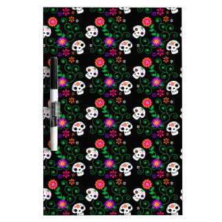 black sugar skull dry erase board
