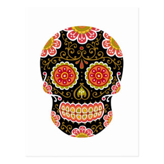 Black Sugar Skull Postcard