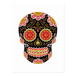 Black Sugar Skull Postcard