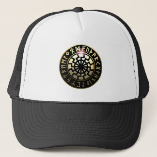 Black Sun wheel Trucker Hat