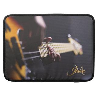 Black Sunburst Bass Guitar Macbook Sleeve