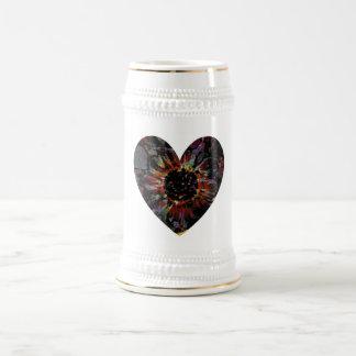 Black Sunflower Beer Stein