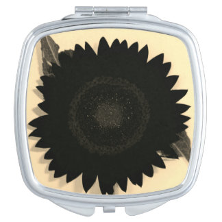 Black Sunflower Makeup Mirror
