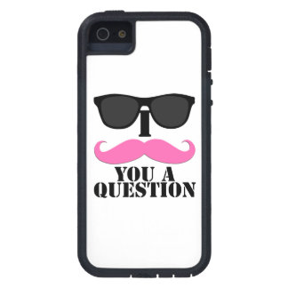 Black Sunglasses Pink I Moustache You a Question iPhone 5 Cases