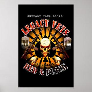 Black Support Legacy Vets MC Art Poster
