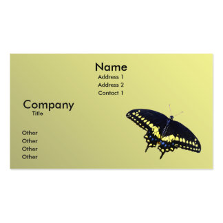 Black Swallowtail Business Card Template