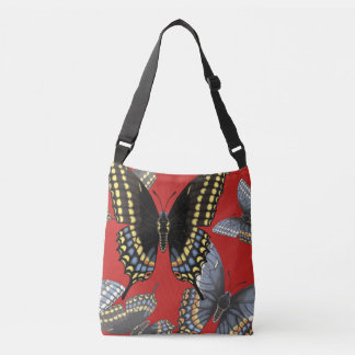 Black Swallowtail Butterfly Crossbody Bag