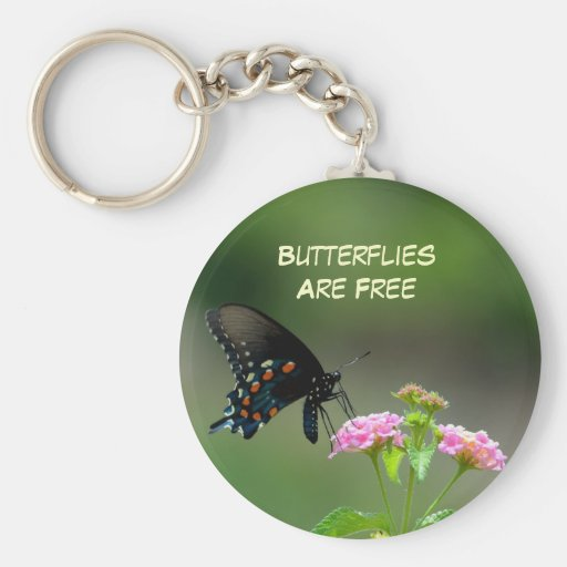 Black Swallowtail Butterfly Keychains