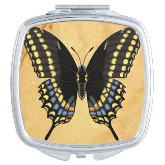 Black Swallowtail Butterfly Makeup Mirror