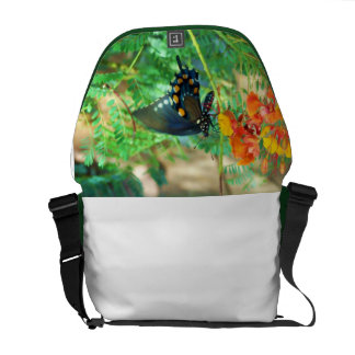 Black Swallowtail Butterfly Courier Bag