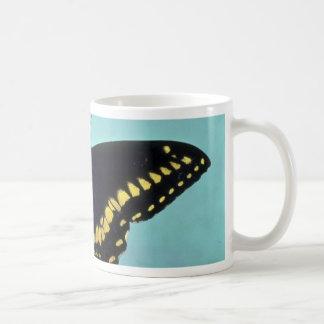 Black swallowtail butterfly coffee mugs