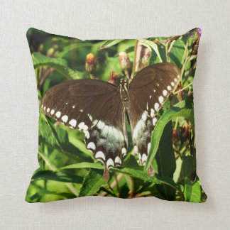 Black Swallowtail Butterfly Nature Photography Throw Cushion