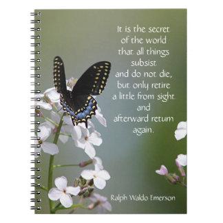 Black swallowtail butterfly notebooks