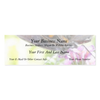 Black Swallowtail Butterfly on Buddleia Bush Business Card Templates
