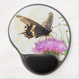 Black Swallowtail butterfly oval muse pad Gel Mouse Pad