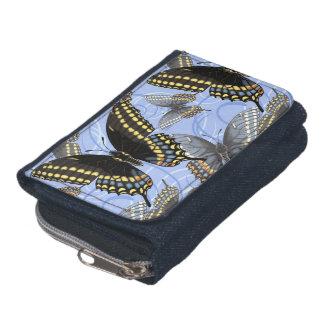 Black Swallowtail Butterfly Swirls Wallet
