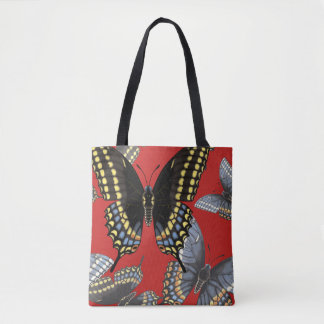 Black Swallowtail Butterfly Tote Bag
